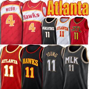 Trae 11 Young Jersey Atlantaş Jersey MLK Hatıra Jersey Spud Deandre Webb Avcısı Formalar Yeni Bildirimi Formalar