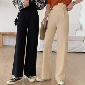 Wiccon New 2020 осень зима женские брюки с высокой талией прямые карманы формальная дама лодыжки длиной с ременьщиком брюки гарем