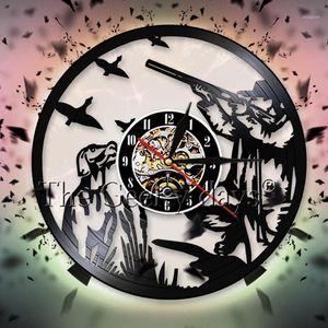 Pintail утка охотничьи рекордные настенные часы человек охотники оружия и собака утка охотничьи настенные часы винтажные декор для гостиной1