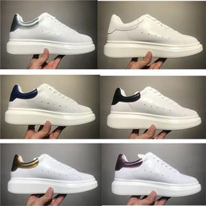 Alexander Mcqueens Baskets Neuester 2019 Promotion Frauen Schuh-Plattform casualSneakers Luxurys-Schuh-Leder Jointed Kleid-Turnschuh mit Kasten Schuh Sport