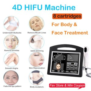 Best result new upgrade 4D HIFU 12 line with 8cartridges high intensity ultrasound Hifu machine fat removal skin lifting wrinkle removal