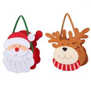 هدية عيد الميلاد حقيبة يد الحلوى سانتا هدية عيد الميلاد حقيبة الحلوى مرح جيب الجيب الرئيسية متجر الديكور 1
