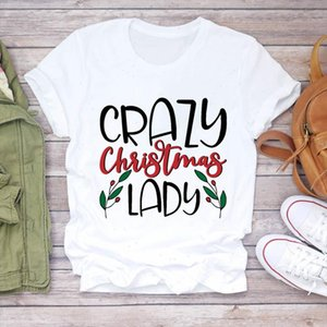 Donne 90s Lettera Divertente Girl Girl Girl New Year Merry Christmas Stampa Tshirts Abbigliamento Grafica Femmina Top T Shirt Signore Tee T Shirt
