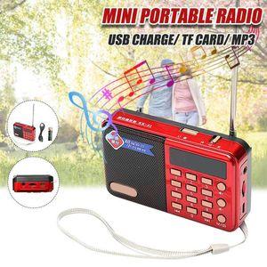 Rádio Digital Speakers Portátil Mini FM Speaker USB Music Player Antena Handsfree Bolsos Receptor Outdoor