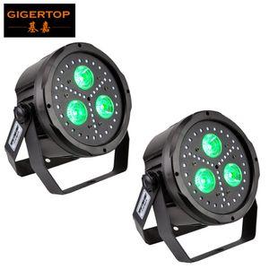 Дешевая цена 2 x New 2 Commonital Community пластиковый плоский светодиодный светильник 3 х 18 Вт 6in1 цвет Tyanssine LED с 45штс 5050 SMD RGB светодиоды красочные