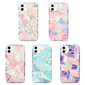 Marbre antichocs cas pour l'iPhone 12 Mini 11 Pro Max X XR XS Max 7 8 Plus Téléphone Retour tough Cartoon Shell