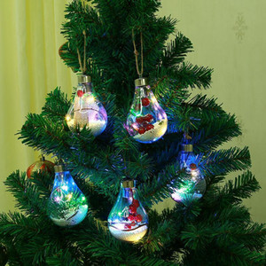 LED Light Decor Christmas Ball Transparent Decorative Bulb Xmas Tree Hanging Wedding Birthday Party