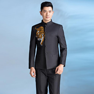 Chorus mariage groom wedding suits for men blazer boys prom suits chinese tunic suit slim masculino latest coat pant designs