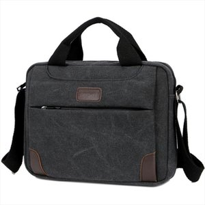 New Mens Handbag Simple Business Shoulder Messenger Bag Casual Vintage Canvas Briefcase Drop Shipping Good Quality
