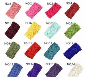 32colors Knit Hair Band Fashion Crochet Headband Winter Warm Wool Crochet Hairband Girls Headwrap Scarf Turban jllrCI bdecoat