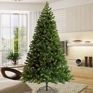 7.5ft مضاءة قبل STOCK الولايات المتحدة 2020 الأزياء شجرة عيد الميلاد شنقا الاصطناعي شجرة عيد الميلاد مع 400 مدمن قبل أضواء بقيادة حامل طوي W49819945