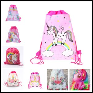 Fashion Unicorn Nonwoven Bundle Schoolbag Children Shoulder Bag Cartoon Mini-Nonwoven Bundle Pocket Drawstring Bundle Pocket Backpack Best