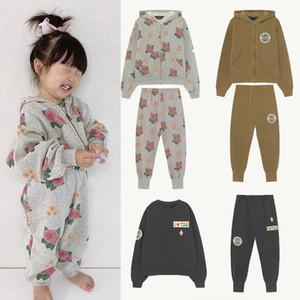 Enkelibb AW Tao Детская толстовка и спортивные штаны Устанавливает бренд дизайн бренда Детские мальчики Девушки мода наряд осенью зимняя одежда костюма 201127