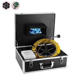 23MM 1000TVL Lens 20M Cable Inspection Pipe Camera 12V 4500mAh Battery 7'' Pipeline Endoscope Industrial Sewer Camera