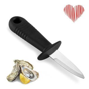 Nouveau couteau d'huîtres Professionnel Oyster Open Main Artefact Manche en acier inoxydable Fan manuel Ventilateur de fruits de mer Barbecue Barbecue Outil K1
