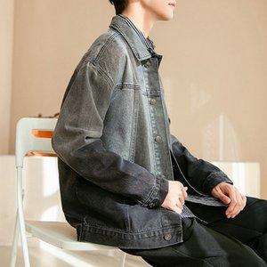 Giacca sfumata coreana moda uomo 2021 nuova primavera ruffian handsome cowboy cappotto