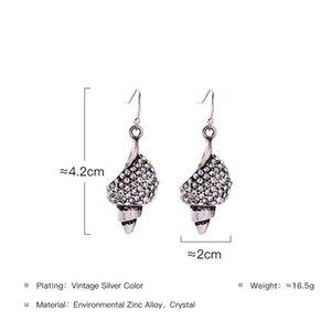 Dangle Earrings Alloy Winkles Rhinestone Vintage Earrings for Women Fashion Jewelry