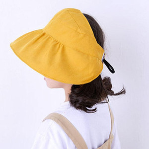 Children Girl Sun Hat Wide Brim Cap Empty Roof Fashion Breathable for Summer Beach B2Cshop