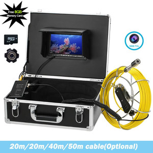 23MM Lens Long Cable Pipeline Sewer Drain Inspection Video Camera 20M 30M 40M 50M Industrial Pipe Endoscope Detection System