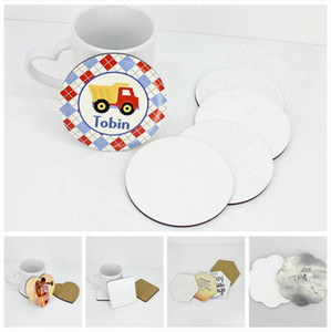 DIY Sublimation Blank Cup Mat MDF Wooden Insulated Cup Coasters Kitchen Accessories Mat Cup Bar Mug Drink Pads DDA786