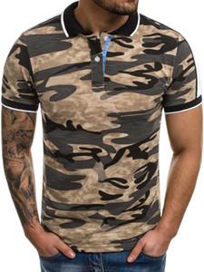 Summer Lapel T-shirt 3d Digital Printing Camouflage European Short Sleeve Men's Polo Shirt b