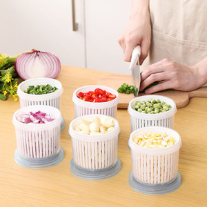 Kitchen Drain Storage Box Drain Sealed Box For Ginger Garlic Onion Refrigerator Food Drain Fresh Kitchen Accessories YHM816