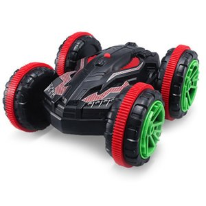Amphibious Remote Control Double-Sided Vehicle Four-Wheel Drive Off-Road Stunt Dumper Children's Toy Car