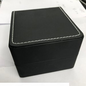 Watch Boxes Classic black leather with black appearance, white sewing thread inside and out.