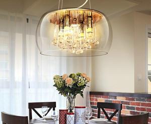 Modern Crystal Restaurant Foyer LED Chandelier Decorazione della casa Decorazione Della Casa Loft Luminaire Bar Caffetteria Hanglamp Lampada nordica