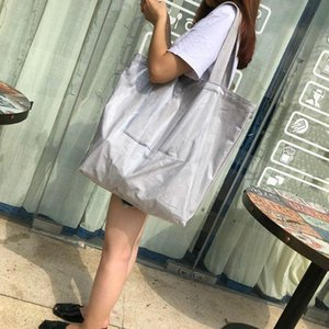 2020 Korea new simple fashion large capacity tote bag waterproof pvc shoulder handbag woman big bag C43-98