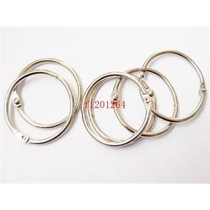 Book 200pcs lot DHL Free Hoop shipping Wholesale 50mm Binding Rings Binder Hoops Loose Leaf Ring Scrapbook Alb