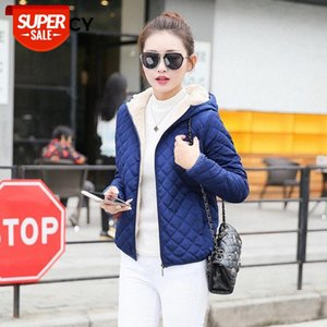 JFUNCY Winter Warm Women Parkas Basic Jackets Women Winter Plus Velvet Lamb Hooded Coats Female Cotton Outderwear Jacket #w33Q