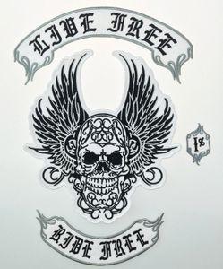 Venta caliente SOA PASEO LIBRE 1% Tamaño motorista de la motocicleta Patch borda completa Volver a la chaqueta de Hierro en la ropa del motorista del chaleco Patch Patch Rocker 57ZK #