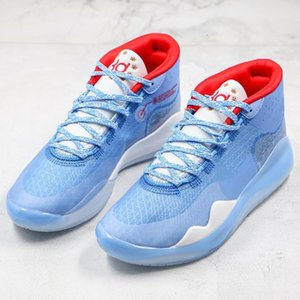 Mesh Ep Zoom Kd Men Sjx Basketball Stitching Shoes University 12s Kevin Durant 12 Pe Oreo Anthracite Sneakers Sports Trainers 40 -46