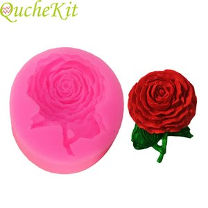 Siloxane rose cake mold 3D   124; soap mold, candy gel, chocolate, practical clay, syrup mold, pastry tool