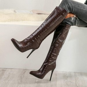 Women's Fashion Boots Knee High Slim Boots Solid Color Riding Women Elegant Side Comfortable Plus size Shoes