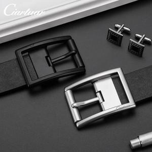 aleación de correa de cinturón fino Japanesecowhide Ciartuar nuevos hombres del estilo para todo tipo de ocio uzJ4S