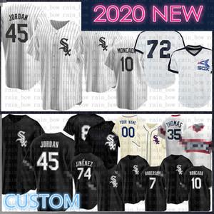 2020 Nueva Michael personalizado Tim Anderson jersey de béisbol de Bo Jackson Eloy Jiménez Yoan Moncada Frank Thomas José Abreu Carlton Fisk Todd Frazier