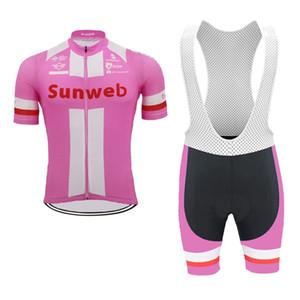 2020-Team Sunweb UHC Radtrikot Set Mann-Sommer-Kurzschluss-Hülsen einen.Kreislauf.durchmachenClothing Anzug Mtb Fahrrad-Kleidung atmungsaktiv Rennrad Wear Y0
