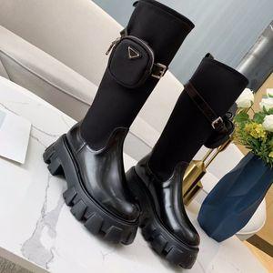 Rimocy Hidden каблуки коренастые платформы ботильоны для женщин короткие плюшевые внутри осень зимняя обувь женщина панк PU кожаные пинетки