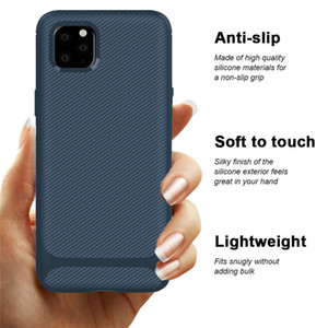For Iphone 12 11 Pro Max Mini Samsung Galaxy A71 A51 One Plus 8 7T Carbon Fiber TPU Cell Phone Cases Shockproof Case