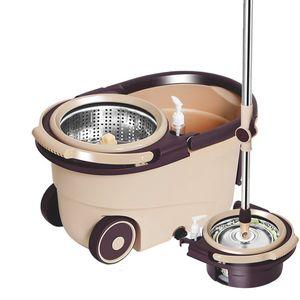 Новый двухпривод Magic Cleanse Mops Рука нажимает спиновые швы с водой домашний кухонный пол чистого чистящего съемки с ковшом падение MOPS LJ201130