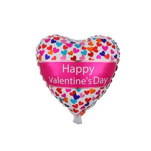 18 inç Mutlu Sevgililer Günü Balonlar Kalp Şekli Alüminyum Folyo Sevgililer Günü Balonlar Yıldönümü Düğün Dekor 50 adet / grup HHA3277