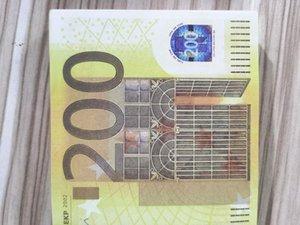 200 Euro çocukların 1Factory doğrudan simülasyon 100 jeton sahne hile oyuncak banknot çekim Banknot