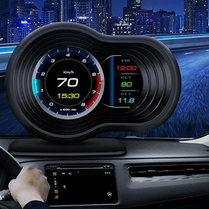 Car HUD Head Up Display OBD+GPS HD System GPS Speeeter Projection Driving Car Speed Projector