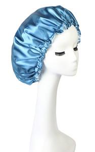 IShow Hair extra longue Caps Satin Bonnet pour dormir Bonnet de douche Bonnet Femme soie femmes de nuit de sommeil Cap Head large bande élastique