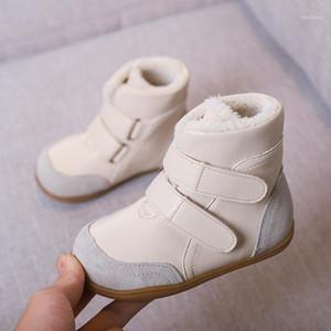 Bottes de neige femelles résistantes à l'enfant authentiques Bottes de neige enfants à la neige mâles à mi-jambe en coton à mi-jambe