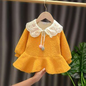 Halilo 1 Doğum Elbise İçin Kız Bebek Uzun Kollu Artı Kadife Kış Bebek Giyim Noel Prenses Kostüm 1023