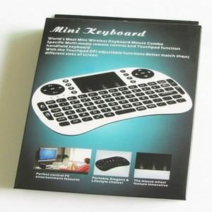 Bluetooth-клавиатура Wireless 2.4G Mini I8 Беспроводная клавиатура с подсветкой с подсветкой красных зеленых синих дистанционных управления Дешевые клавиатуры 5 шт. / Лот