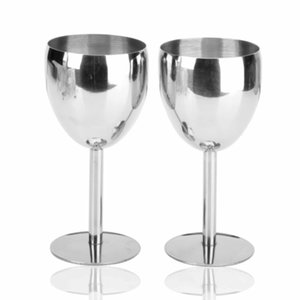 Stainless Steel Wine Glass Goblet Chanpagne Glass Drinking Cups Water Mug Party Bar Restaurant Supplies